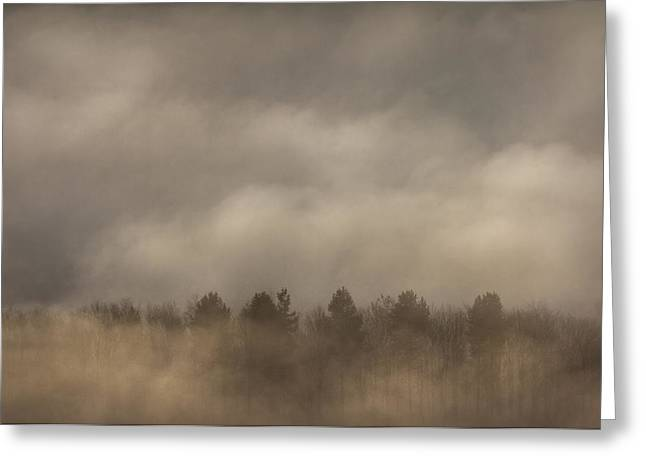 Castleton Greeting Cards - Fog Wall Greeting Card by Andy Astbury