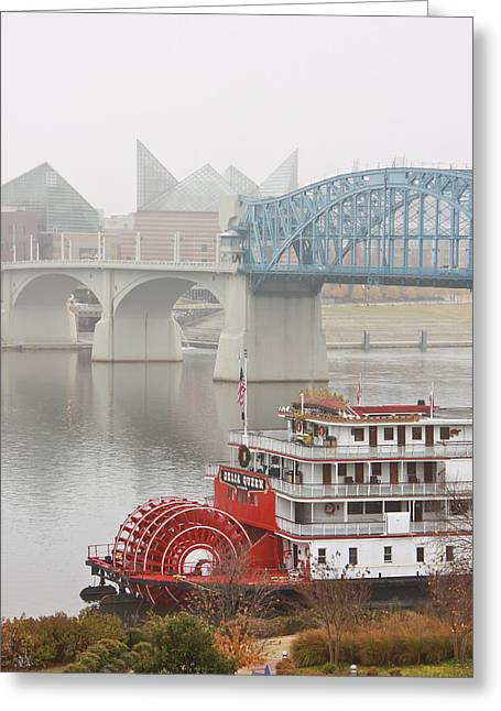 Tennessee Aquarium Greeting Cards - Foggy Chattanooga Greeting Card by Tom and Pat Cory