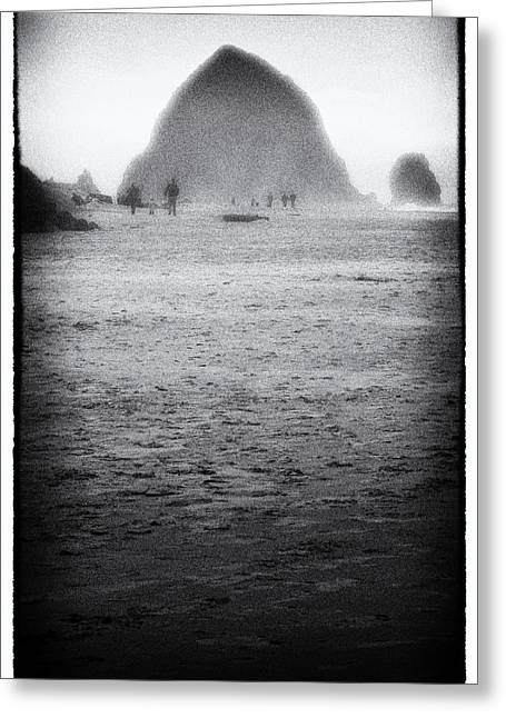Monolith Greeting Cards - Foggy Day at Cannon Beach Greeting Card by David Patterson
