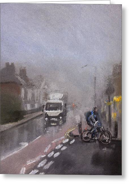 Fog Pastels Greeting Cards - Foggy Herne Bay 2 Greeting Card by Paul Mitchell
