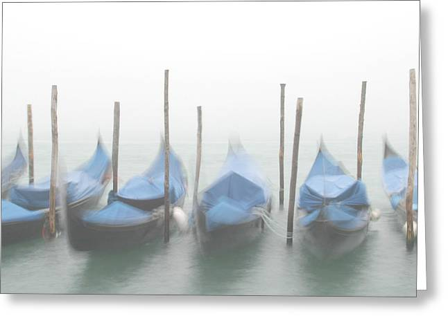 Tom Cory Greeting Cards - Foggy Morning Grand Canal Greeting Card by Tom and Pat Cory