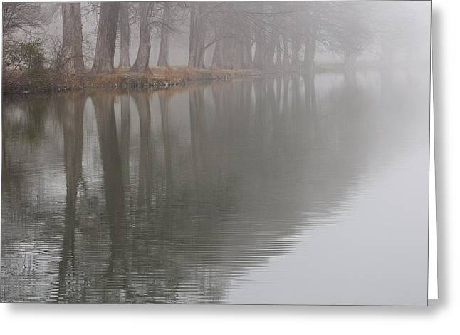 The Hills Greeting Cards - Foggy Morning On The River Greeting Card by Paul Huchton