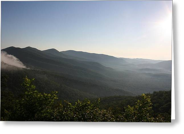 Stacy Bottoms Greeting Cards - Foggy Mountain Greeting Card by Stacy C Bottoms