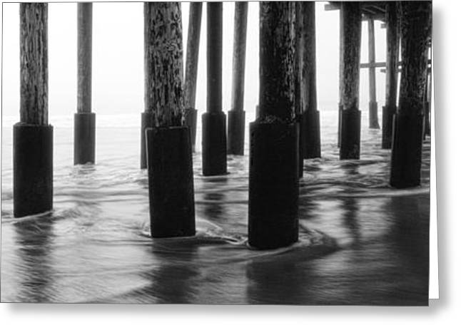 Foggy Landscapes Greeting Cards - Foggy Pier Greeting Card by Steve Munch