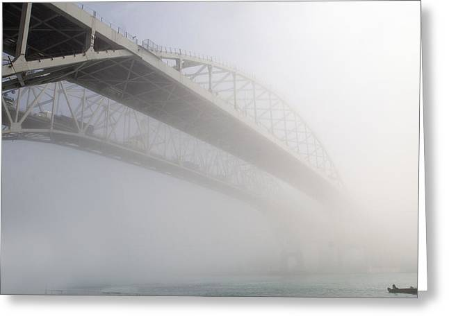 Cheryl Cencich Greeting Cards - Foggy River Greeting Card by Cheryl Cencich