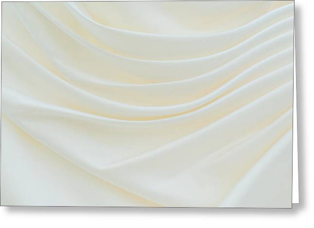 Highlighted Greeting Cards - Folded Fabric Waves Greeting Card by Meirion Matthias