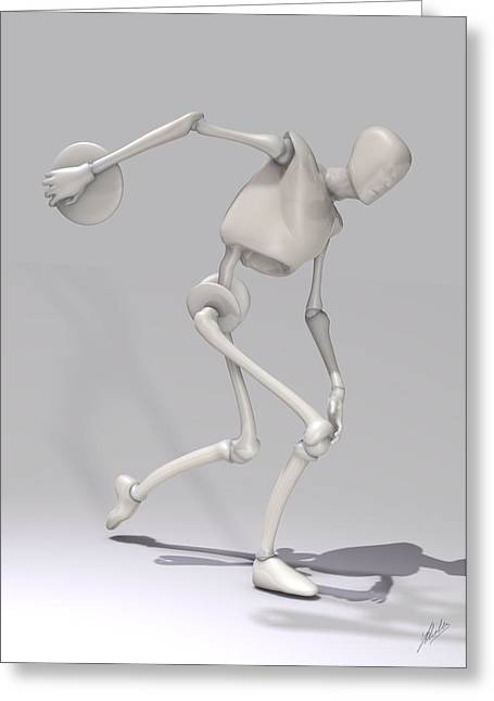 Freethinker Greeting Cards - Discobolus By Quim Abella Greeting Card by Joaquin Abella