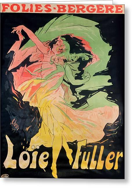 Dancer Art Greeting Cards - Folies Bergeres Greeting Card by Jules Cheret