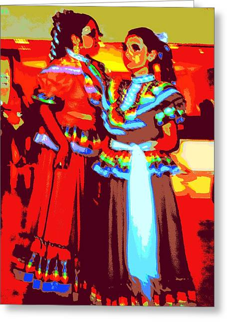 Folkloric Greeting Cards - Folklorico Dancers Greeting Card by Randall Weidner