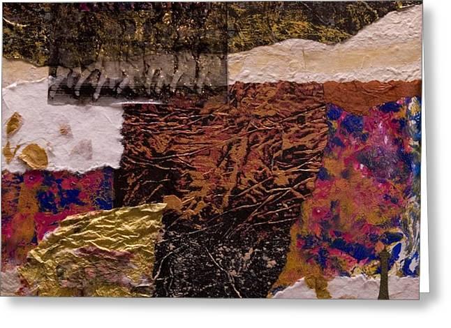 Ultra Modern Paintings Greeting Cards - Follies Bergere Greeting Card by Marie Cummings