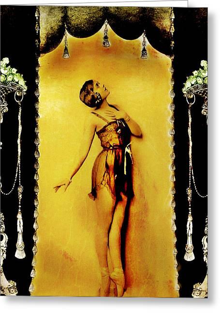 Ziegfeld Follies Greeting Cards - Follies Greeting Card by Mary Morawska