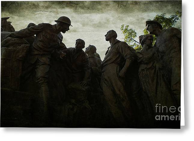Borglum Greeting Cards - Follow Me - Gutzon Borglums Wars of America Greeting Card by Lee Dos Santos