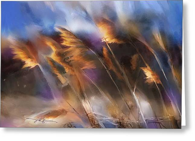 Pampas Grass Greeting Cards - Follow the Sun Greeting Card by Bob Salo