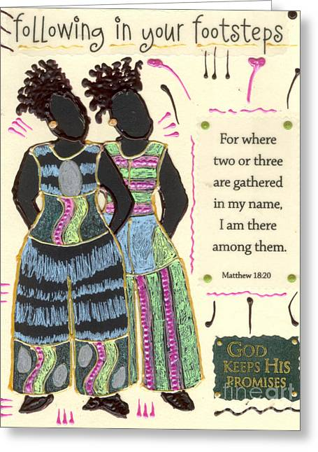Grettings Greeting Cards - Following in Your Footsteps Greeting Card by Angela L Walker