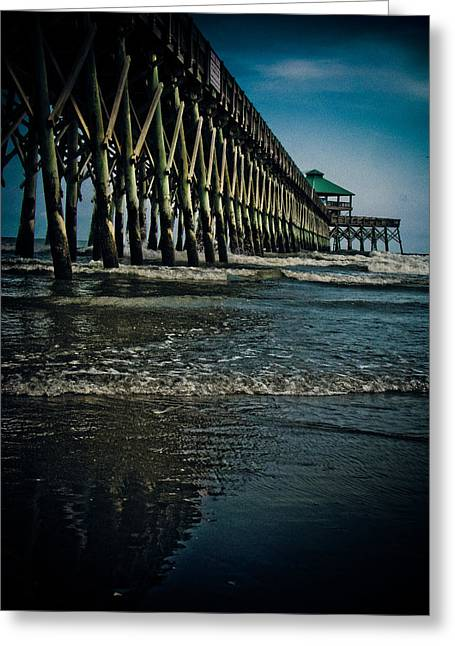 Folly Beach Pier Greeting Card by Jessica Brawley