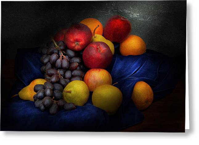 Old Masters Greeting Cards - Food - Fruit - Fruit still life  Greeting Card by Mike Savad