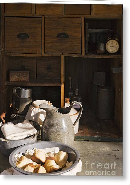 Old Pitcher Greeting Cards - Food in a Chuck Wagon Greeting Card by Jeremy Woodhouse