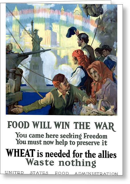 World Of Food Greeting Cards - Food Will Win The War Greeting Card by War Is Hell Store