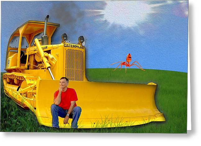Front End Loader Greeting Cards - Fool On The Hill Greeting Card by Roy Foos