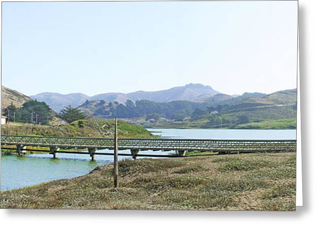 Marin County Greeting Cards - Foot Bridge At Rodeo Lagoon in The Marin Headlands Greeting Card by Wingsdomain Art and Photography