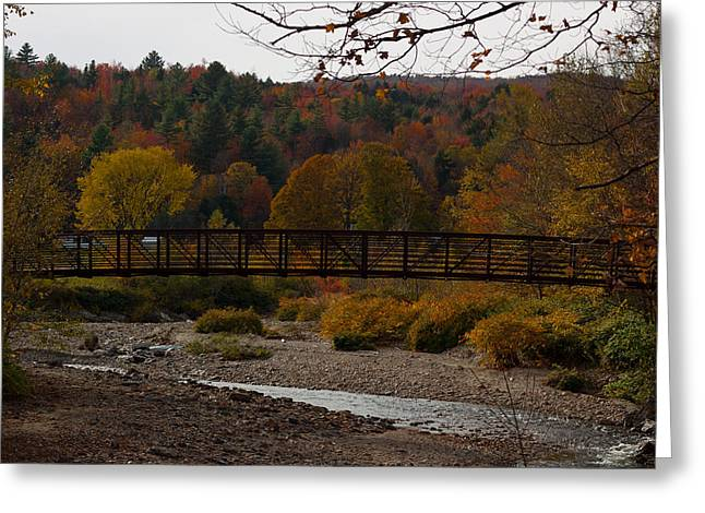 Vermont Photographs Greeting Cards - Foot Bridge Greeting Card by Robert  Torkomian