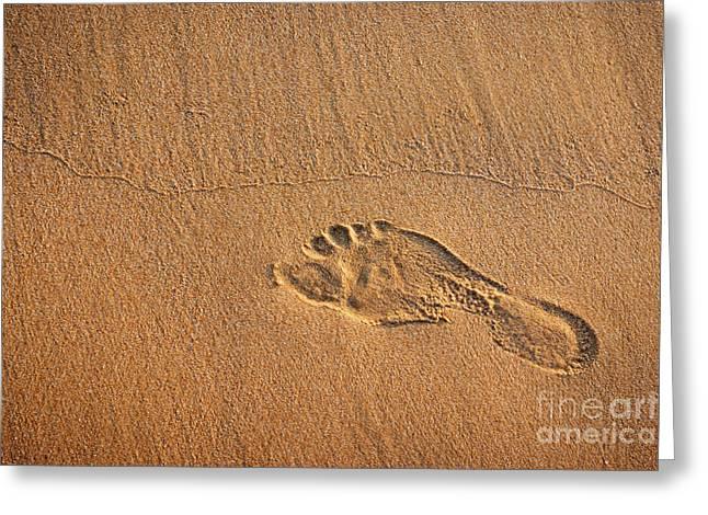 foot print Greeting Card by Carlos Caetano
