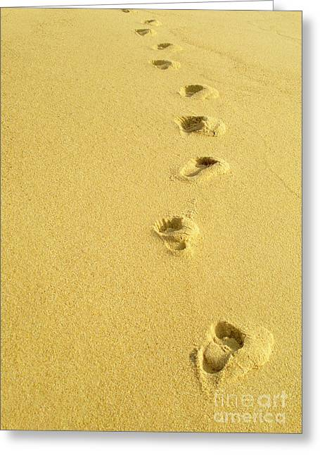 Footsteps Greeting Cards - Foot Prints Greeting Card by Carlos Caetano