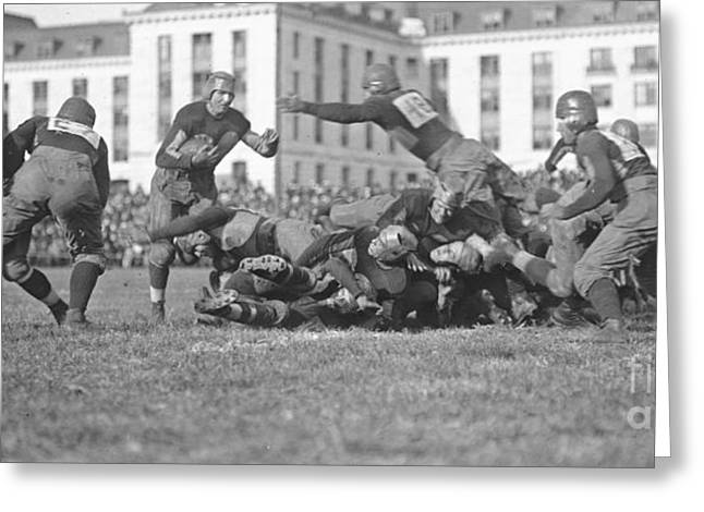Ewing Greeting Cards - Football Play 1920 Greeting Card by Padre Art