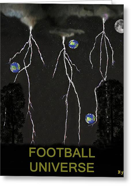 Official Member Mixed Media Greeting Cards - Football Universe Greeting Card by Eric Kempson