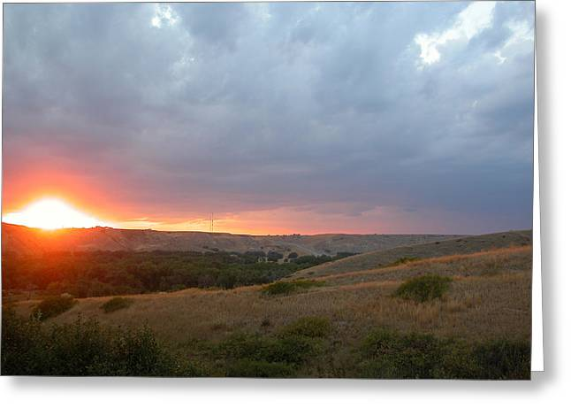 Alberta Foothills Landscape Greeting Cards - Foothills sunset Greeting Card by Stuart Turnbull
