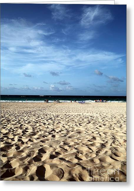 Footprints In The Sand Greeting Cards - Footprints in the Sand Greeting Card by John Rizzuto