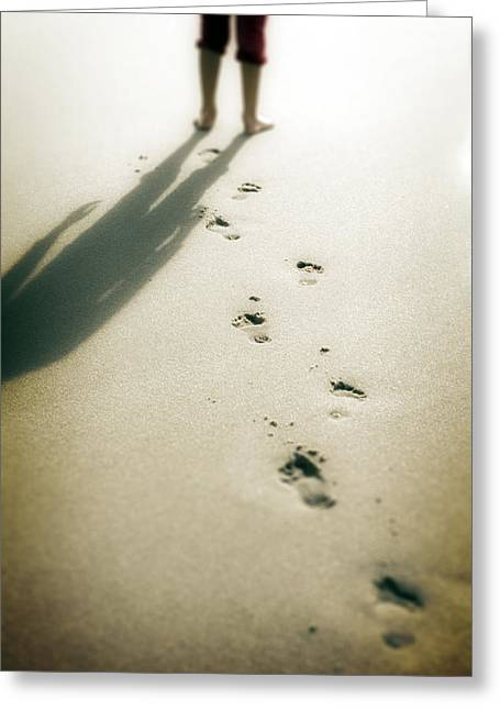 Barefooted Greeting Cards - Footsteps Greeting Card by Joana Kruse