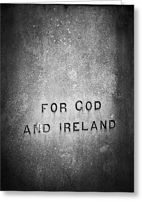 Political Statement Greeting Cards - For God and Ireland Macroom Ireland Greeting Card by Teresa Mucha
