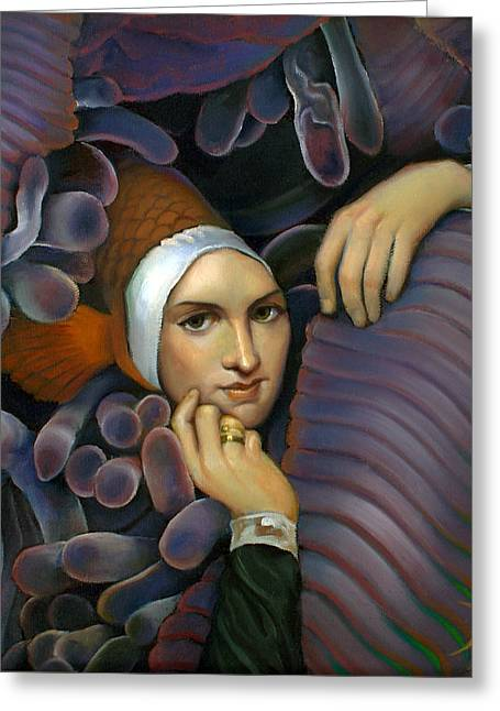 Sea Anemone Greeting Cards - For I Have Finned Greeting Card by Patrick Anthony Pierson