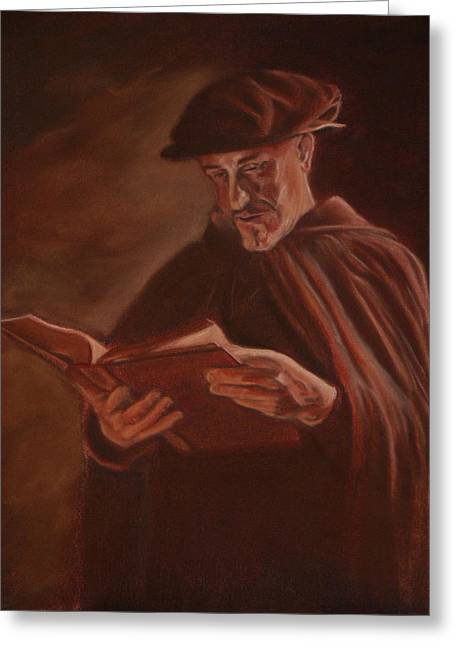 Scripture Reading Greeting Cards - For it is written. Greeting Card by Michael DePalo