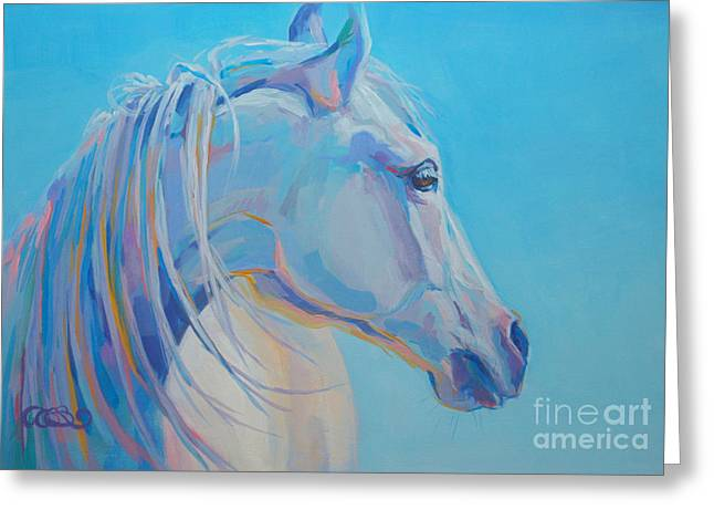 Gray Horse Greeting Cards - For Melissa Greeting Card by Kimberly Santini