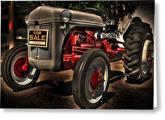 Tractor Tire Greeting Cards - For Sale Greeting Card by Kevin Munro