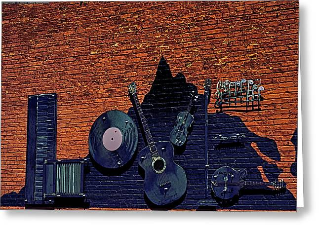 Gutiar Greeting Cards - For The Love of Music Greeting Card by Mike Waddell
