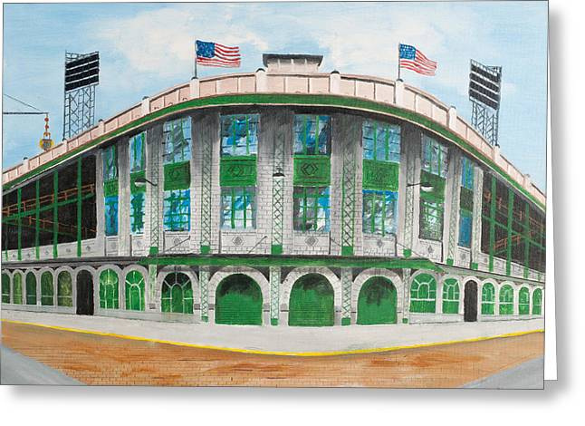 Pittsburgh Pirates Paintings Greeting Cards - Forbes Field Greeting Card by Paul Cubeta