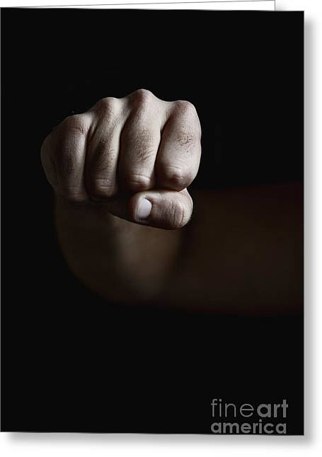 Clenched Fist Greeting Cards - Force Greeting Card by Margie Hurwich