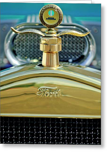 Recently Sold -  - Collector Hood Ornament Greeting Cards - Ford Boyce MotoMeter 2 Greeting Card by Jill Reger