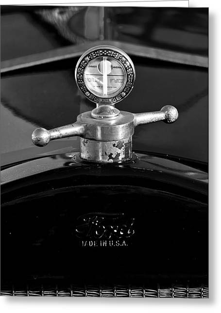 Parts Of Cars Greeting Cards - Ford Boyce MotoMeter Greeting Card by Jill Reger