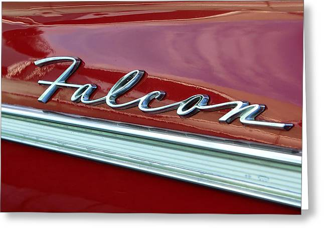 Antique Automobiles Photographs Greeting Cards - Ford Falcon Greeting Card by David Lee Thompson