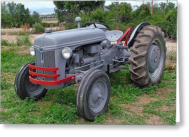 Catapillars Greeting Cards - Ford Farm Tractor  Greeting Card by Ken Smith