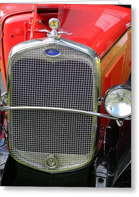 Ford Model T Car Greeting Cards - Ford Grill Greeting Card by Warren Thompson
