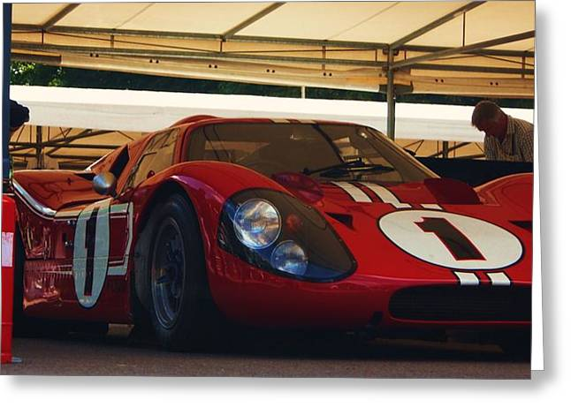Andretti Greeting Cards - Ford GT40 MKIV Greeting Card by Christopher Mercer
