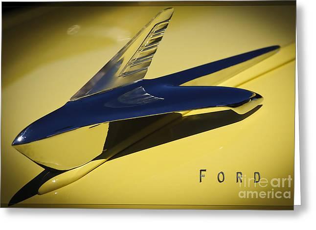 Best Sellers -  - Santa Cruz Wharf Greeting Cards - Ford Hood Ornament 3 Greeting Card by Katja Zuske