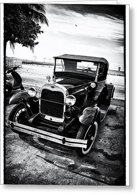 Ford Model T Car Greeting Cards - Ford Model T Film Noir Greeting Card by Bill Cannon