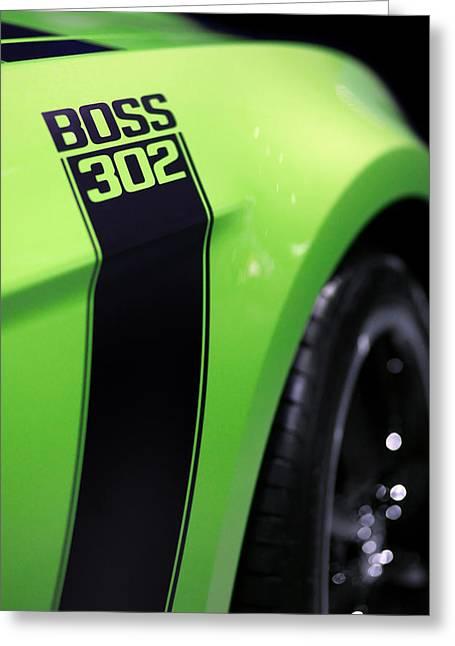 2013 Digital Art Greeting Cards - Ford Mustang - BOSS 302 Greeting Card by Gordon Dean II