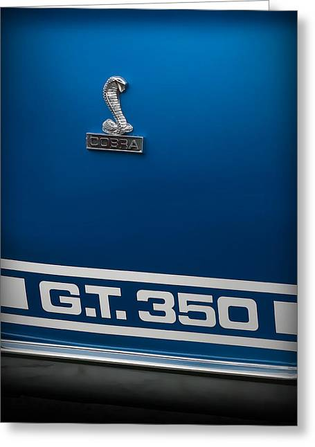 Cobra Art Greeting Cards - Ford Mustang G.T. 350 COBRA Greeting Card by Gordon Dean II